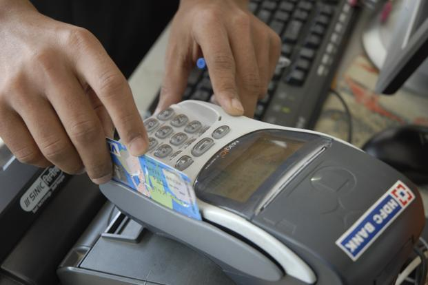 Indians had nearly 730 million debit cards and 27 million credit cards at September end. Photo: Hemant Mishra/Mint