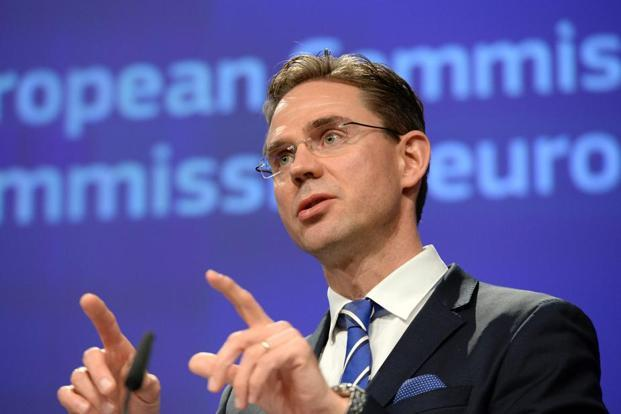 Vice-president of European Commission, Jyrki Katainen, complimented the government for its resolve to roll out the Goods and Services Tax soon. Photo: AFP
