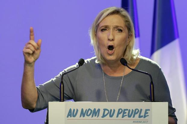 Marine Le Pen drew parallels between the US vote, Britain's 23 June decision to leave the European Union, and France's rejection of the European constitution in 2005. Photo: AP