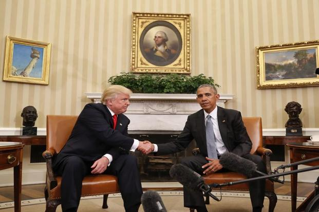 Barack Obama has spent a year telling interlocutors that Donald Trump would never be elected and that he was a threat to American democracy and the global system. Photo: AP