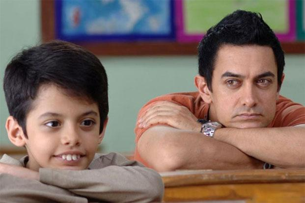 Aamir Khan and Darsheel Safary (left) in a still from 'Taare Zameen Par', which won the young Safary several awards that season