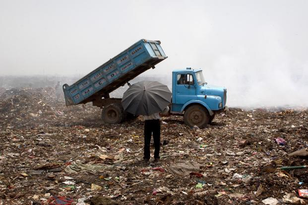 Landfills release noxious methane fumes into the air and leachates into the groundwater, presenting a permanent challenge to tackling pollution in cities. Yet landfills continue to be overlooked by flagship policies. Photo: Bloomberg