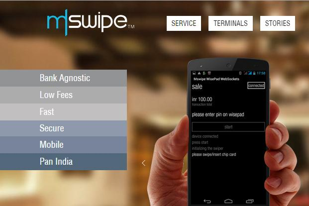 In the payments services market, Mswipe competes with companies such as Ezetap and Paynear.