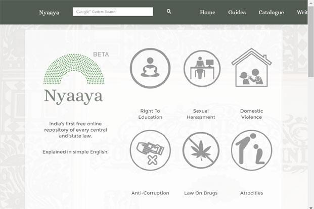 Nyaaya.in is an initiative associated with the Vidhi Centre for Legal Policy, which works with the government on improving existing laws and drafting better laws.