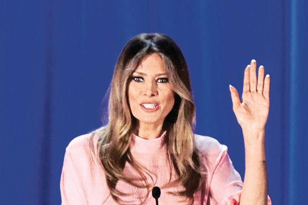 Melania Trump, wife of US president-elect Donald Trump. Patriarchy 101 was on splendid display after US elections as social media was awash with offensive photos of her. Photo: AFP