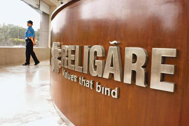 Shares of Religare Enterprises were trading 9.16% lower at Rs243.95 apiece on BSE. Photo: Bloomberg