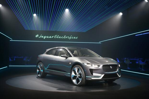 The electric Jaguar I-PACE concept SUV is unveiled in Los Angeles Auto Show, California, US on  14 November 2016. Photo: Reuters