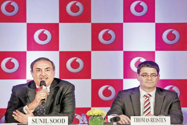 Vodafone India CEO Sunil Sood and CFO Thomas Reisten. Photo: Reuters