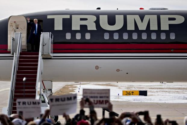 For travel on Donald Trump's black-and-red Boeing 757 and Cessna Citation jet, the candidate's aviation company TAG Air Inc. has raked in almost $6 million, Politico reported. Photo: Bloomberg