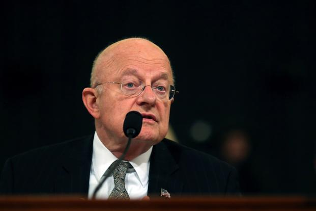 US director of National Intelligence James Clapper attends a hearing in Capitol Hill in Washington, DC, on Thursday. Photo: Reuters