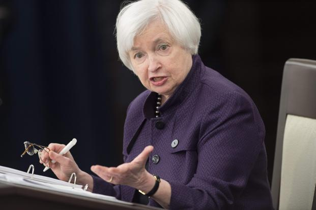 While there's growing confidence in a rate hike in December, Yellen may not be able to give the bicameral Joint Economic Committee in Washington many additional details on the more distant path for monetary policy. Photo: AFP