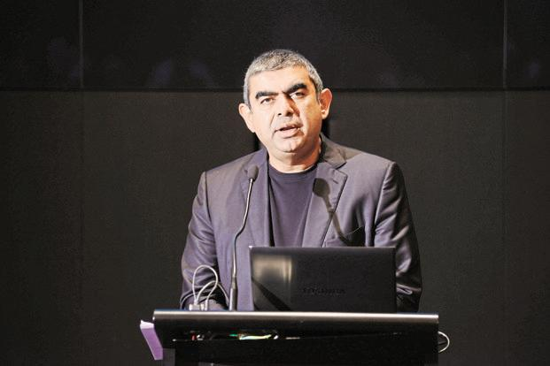 Vishal Sikka conceded that hiring people in the US would likely be more expensive. File photo: Hemant Mishra/Mint