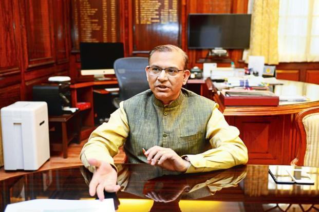Minister of state for civil aviation, Jayant Sinha. Photo:Ramesh Pathania/Mint