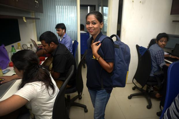 Priya Rakesh Sanath, a beautician with Timesaverz, says the biggest benefit of working for a platform is dignity of labour and the respect she gets which otherwise was lacking.