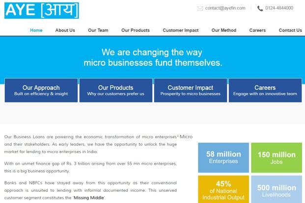 Founded in 2014 by Sanjay Sharma and Vikram Jetley, Aye Finance is an NBFC that assesses creditworthiness of micro and small enterprises and provides loans between Rs50,000 and Rs25 lakh.
