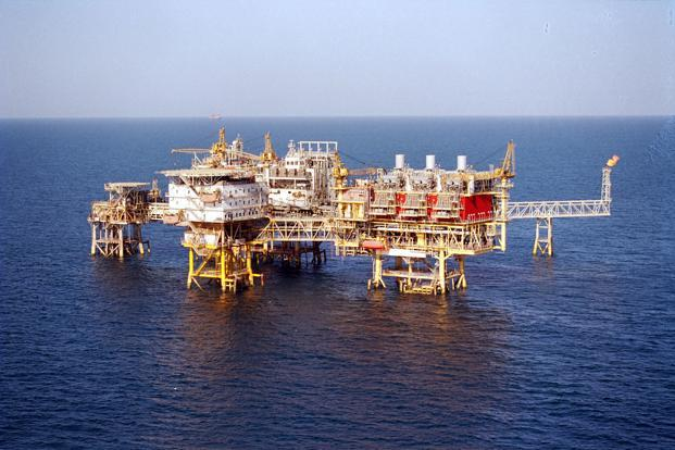 A file photo of an offshore hydrocarbons platform. Photo: Bloomberg