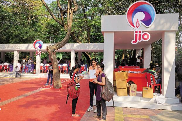 Reliance Jio continues to be popular in urban areas, where teledensity is more than 100%. Photo: Abhijit Bhatlekar/Mint