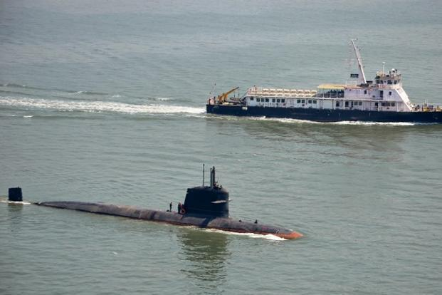 A file photo of an India submarine. Photo: AFP