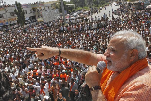 A file photo of Prime Minister Narendra Modi at an election rally. Photo: Reuters