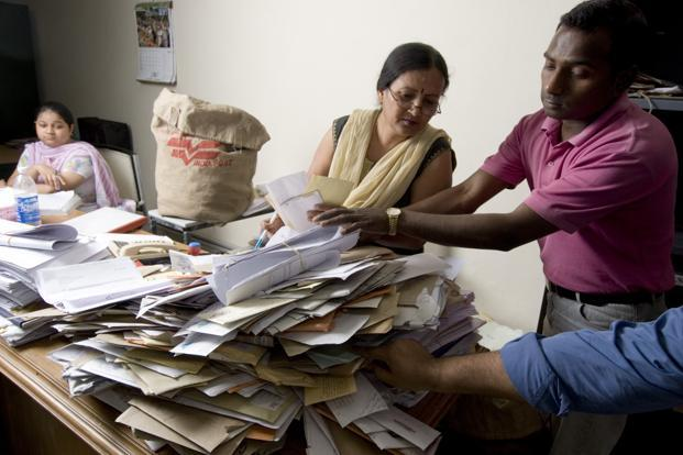 A file photo of RTI applications. From embezzlement of flood relief to illegal construction, people are being killed in this country for seeking information that is theirs by right. Photo: Mint