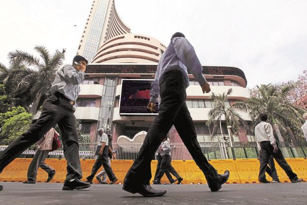 Sensex closed lower by 191.64 points, or 0.74% to 25,860.17 on Thursday. Photo: Kunal Patil/ Hindustan Times