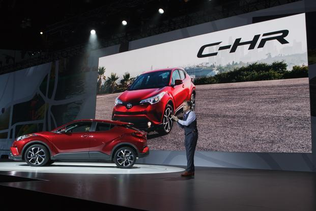 Bill Fay, group vice president and general manager at Toyota Motor Corp., during the unveiling of the Toyota C-HR coupe during Automobility LA in Los Angeles. Photo: Bloomberg