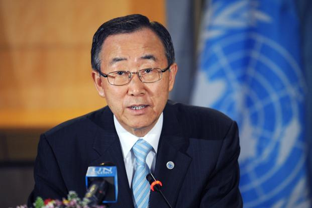 UN Secretary-General Ban Ki-moon has called for restoration of stability in India-Pak region. Photo: AP