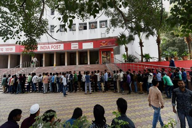 On 22 November, the government banned the use of Rs500 and Rs1,000 notes in small savings programs offered by post offices. Photo: PTI