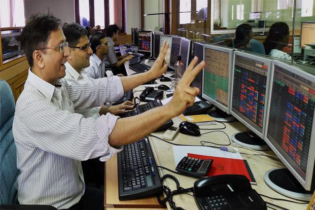 Software exporters and drug makers led gains in the BSE Sensex on Friday. Photo: PTI