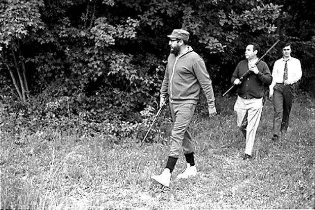 Castro (left) is seen during a hunting trip in Romania in this May 1972 picture. Reuters