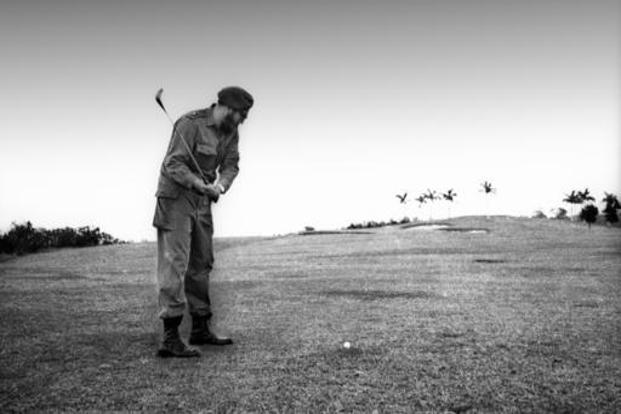 Castro plays golf at the Colinas de Villa real club in Havana, Cuba. AP