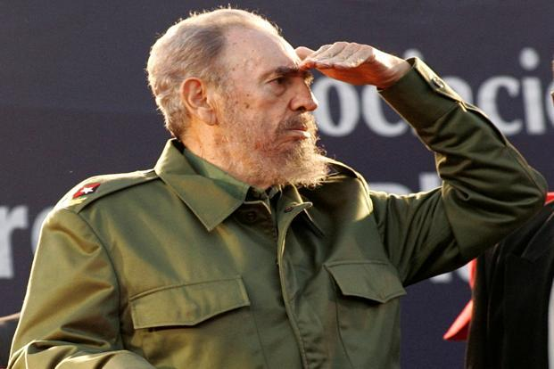 A file photo of Cuba's former president Fidel Castro at  a rally in Cordoba, Argentina in July 2006. Photo: Reuters