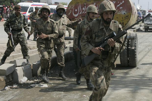 A file photo of Pakistan security forces. Photo: AP