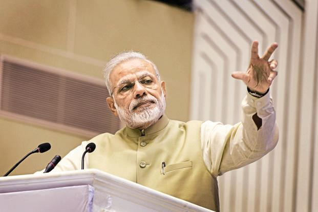 PM Narendra Modi has been speaking about the demonetisation drive outside the Parliament in various rallies on the issue. Photo: Hindustan Times