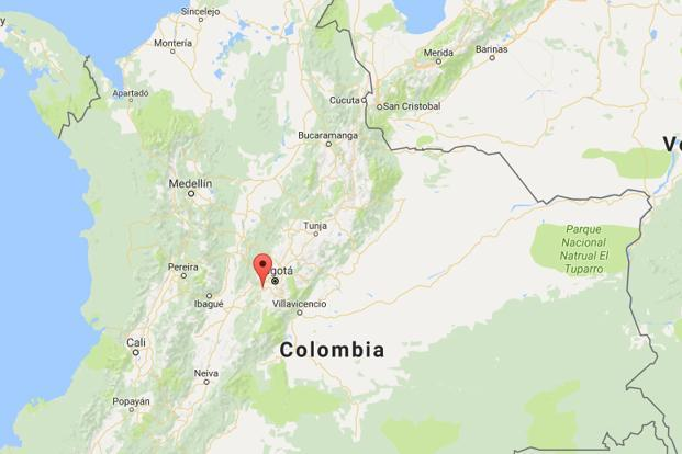 Medellin's international airport said on its Twitter account that the aircraft had departed from Bolivia