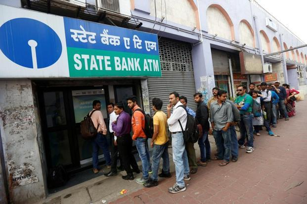 The government has said sufficient cash is available with the Reserve Bank of India (RBI) and banks even as people queued up at banks and ATMs.