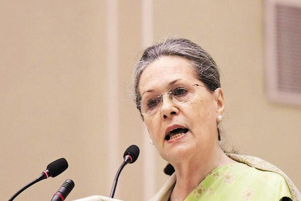 A file photo of Congress president Sonia Gandhi. Photo: PTI
