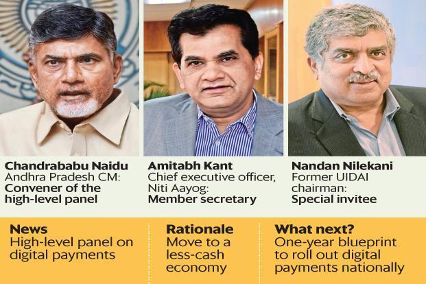 Andhra Pradesh CM Chandrababu Naidu, Niti Aayog CEO Amitabh Kant and former UIDAI chairman Nandan Nilekani are part of the panel.