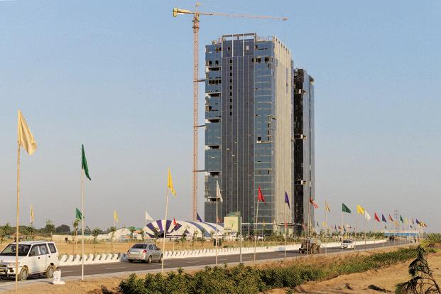 Gujarat International Finance Tec-City, or GIFT City, in Gandhinagar, Gujarat. Photo: Sam Panthaky/AFP