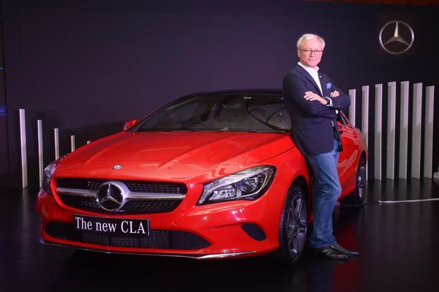 Managing director and CEO of Mercedes-Benz India, Roland Folger, during the launch of the new CLA in Mumbai on Wednesday.