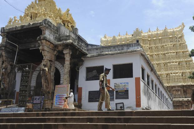 After a meeting on 25 November, the administrative committee of the Sree Padmanabhaswamy temple constituted by the Supreme Court had issued a statement voicing strong opposition to any change in dress code. Photo: AFP