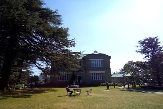 Chail Palace lawns.