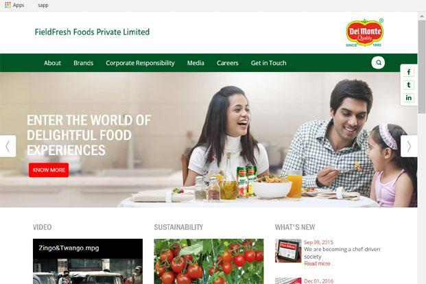 FieldFresh Foods is a joint venture between Bharti Enterprises and Del Monte Pacific Ltd.