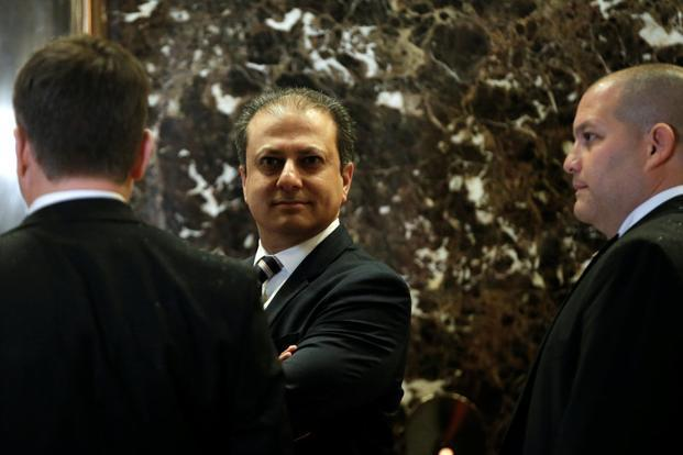 Preet Bharara, the US attorney for the Southern District of New York at Trump Tower to meet with US president-elect Donald Trump. Photo: Reuters