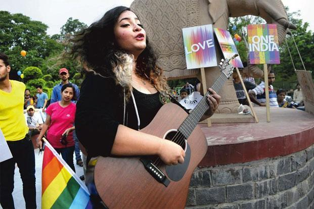 Fighting for justice: A LGBT rally in Gurgaon. Photo: Abhinav Saha/Hindustan Times