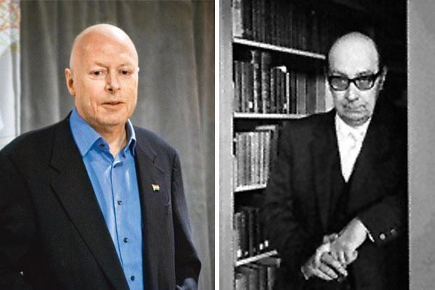 Christopher Hitchens (left; Photo: Wikimedia Commons) and Philip Larkin, two of the three writers, including Saul Bellow, who will feature in Amis' next book