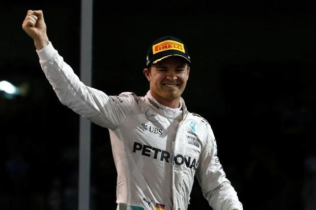 Mercedes's Nico Rosberg after winning the Formula One world championship. Photo: Reuters