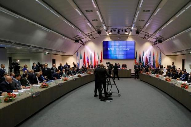 A general view of the beginning of a meeting of the Opec in Vienna on Thursday. Photo: Reuters