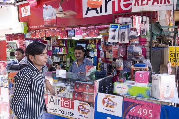 Bharti Airtel's has posted crucial growth of 155 bps, while Idea and Vodafone gained 40 bps and 30 bps, respectively. Photo: Madhu Kapparath/Mint