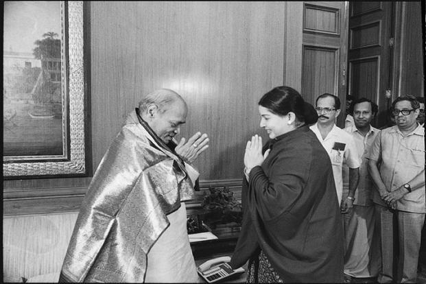 Jayalalithaa with the then Prime Minister P. Narsimha Rao on 16 July 1991. HT